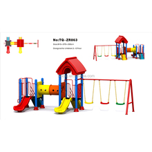 2017 Best Sale Kids Playset Slides Outdoor Play Areas for Toddlers