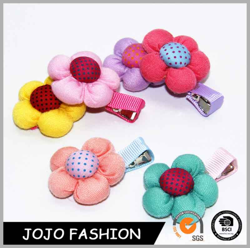 Colorful design fabric flowers baby hair clip hair band for headbands