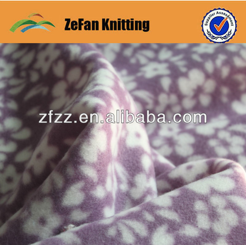 Printed polar fleece fabircs for garment