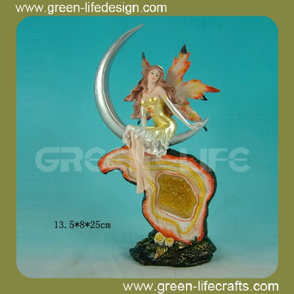 Ornamental resin fairy garden