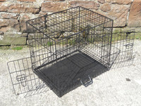 2 Door iCrate Metal Dog Crate Puppy Car Travel Cage +Divider