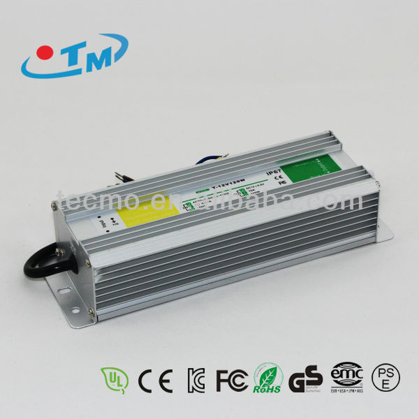 12 volt 10 amp led drivers, ip67 waterproof mini power supply for led light with CE,FCC