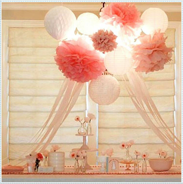 <strong>wedding</strong> hanging decoration colorful promotion <strong>wedding</strong> paper pompoms