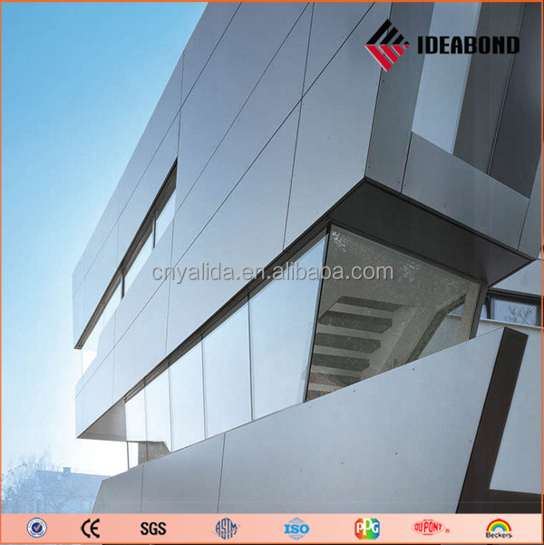 outdoor plastic wall covering panels PVDF coated acp