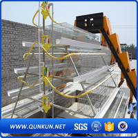 High quality hot galvanized chicken cage with full automatic drinking system