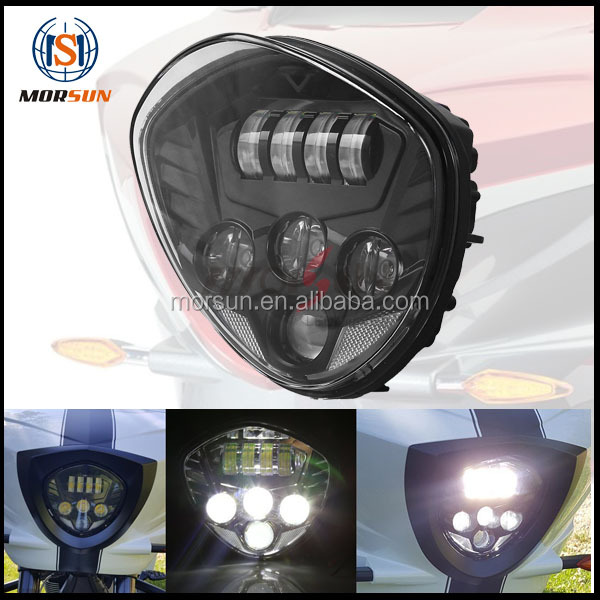 LED headlight kit-For victory cross-country 2010-2016 motorcycle driving light Polaris Victory Motorcycle BLACK LED Headlight
