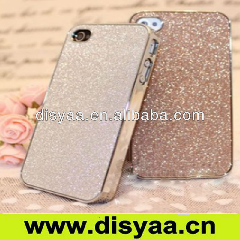 Bright flash powder bare color phone Case