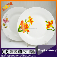 silver plating ceramic fruit plate,porcelain plates dishes,ceramic food plate