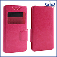 4.0-4.4 Inch Leather Silicon Universal Flip Wallet Case for Mobile Phone