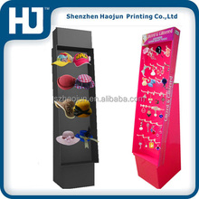 Sidekick Cardboard Display with Hooks,Cardboard Hook Display for Hair Accessory and hat or cap
