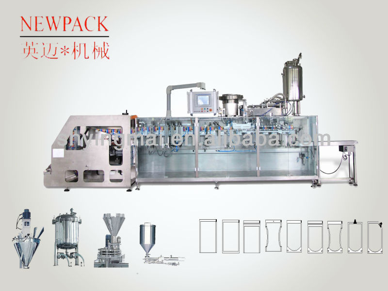 retort pouch and zip pouch packing machine