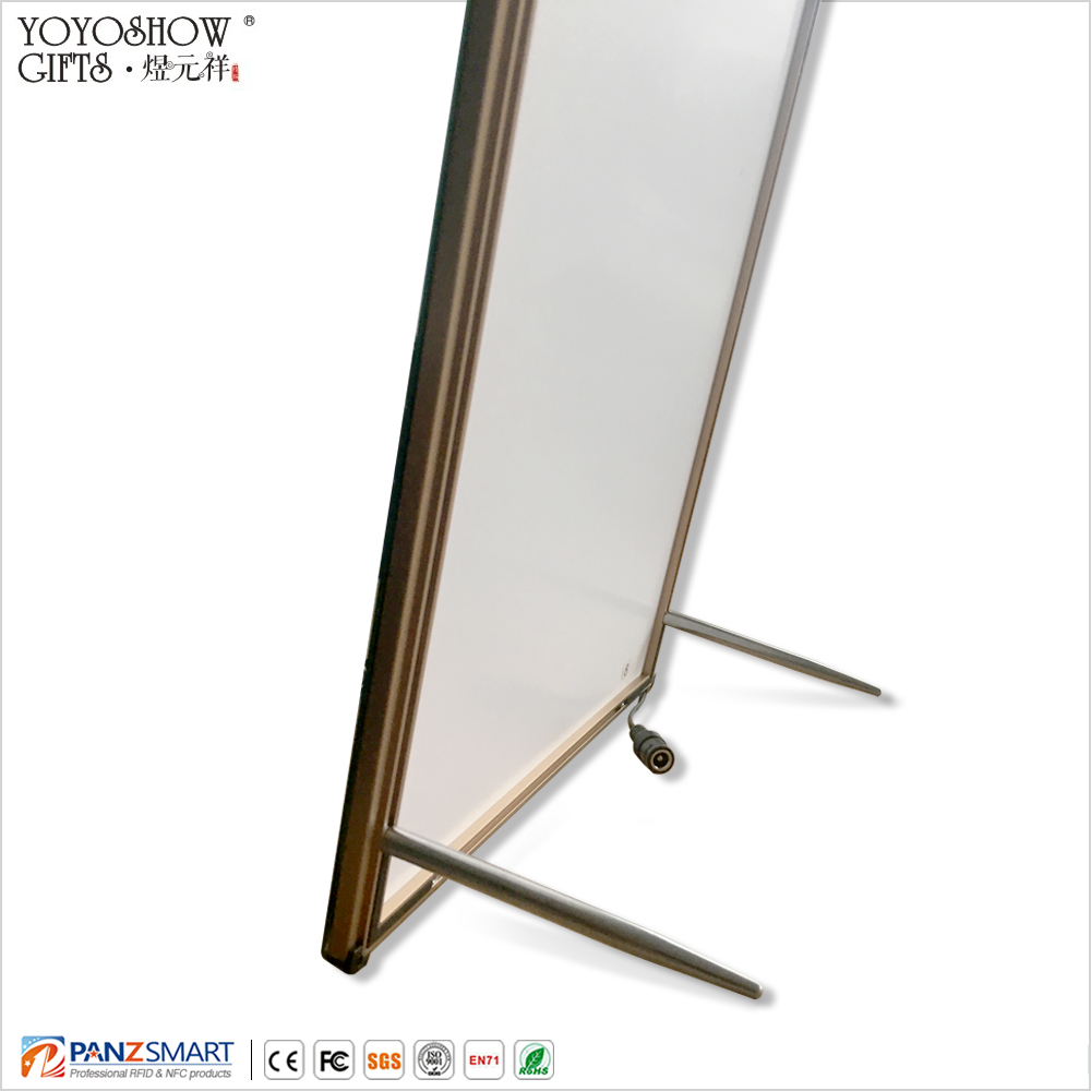 waterproof metal profile indoor outdoor A2 size ultra <strong>slim</strong> 8.3mm thickness <strong>led</strong> <strong>light</strong> box of advertising all exhibition or show