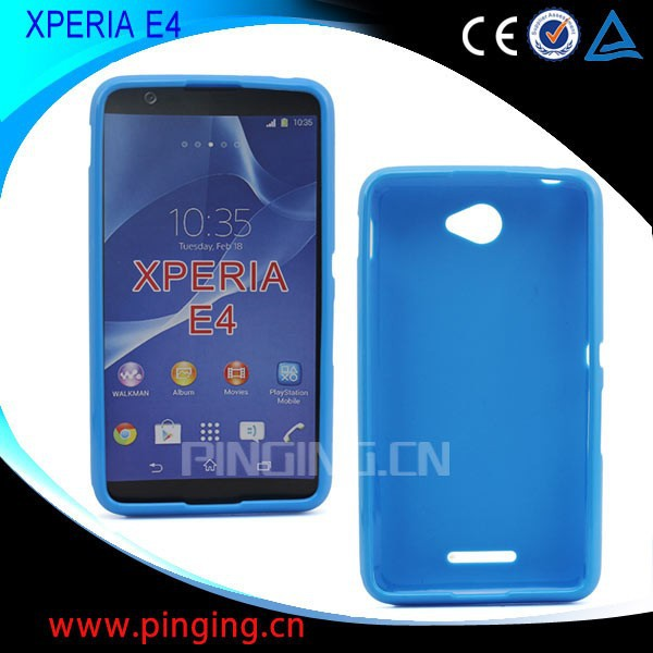 For sony Xperia E4 jelly tpu mobile phone case from competitive factory , case for sony Xperia E4