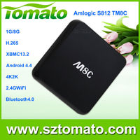 IPTV set top box M8C Amlogic S812 Google Tv Android 4.4 Quad Core Tv Box H.265 2.4GHz/5GHz Wifi Bluetooth 4.0