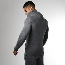 Low Price Gray Long Sleeve Zipper Up With Hood Custom mens Sportswear with high quality