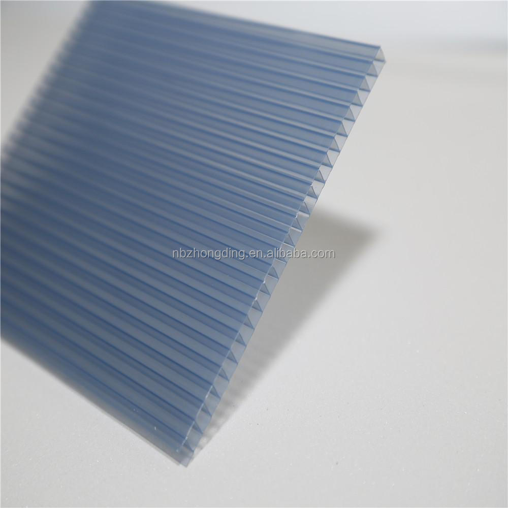 2017 hot sell PC twin wall 6mm thick polycarbonate hollow sheet
