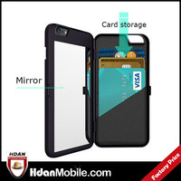 Card Case for Iphone 6,Card Holder Case for IPhone 6 With Mirror Make-Up