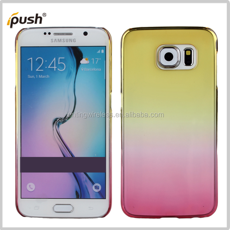 gradual have many color PC case hard cover For samsung S6 mobile phone case