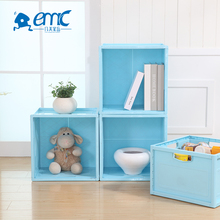 Best price foldable large square plastic household toy storage box