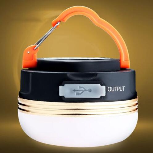 Camping Outdoor Light 3W LED Portable Tent USB Rechargeable Lamp Hiking Lantern