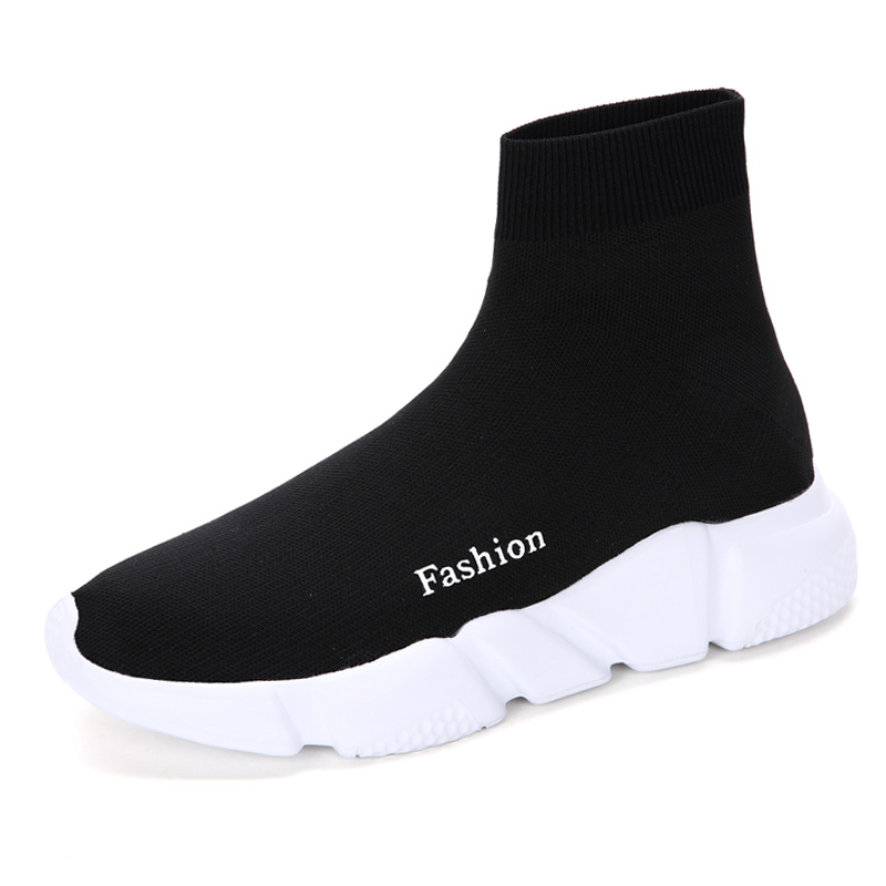 Classic Popular high cut style black adult high top sale shoe