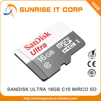 High speed ultra 16gb class 10 micro sandisk sd card