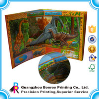 OEM printing simple childrens english pop-up books