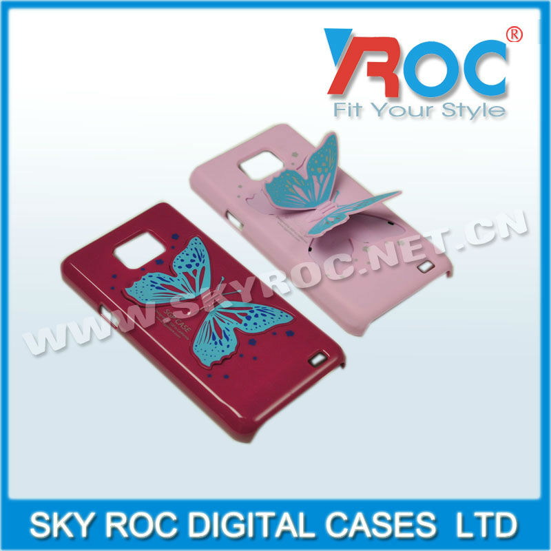 butterfly 3d effect phone case for samsung and iphone