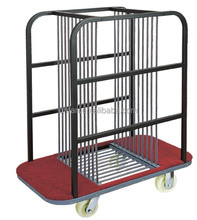 Mobile Glass table trolley cart storage cart