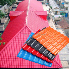 Fast installation synthetic spanish roof tile plastic roof tile synthetic resin roof tile