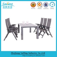 Hot Selling Pool Furniture Glass Dining Table And Dining Room Chairs