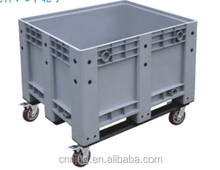 china manufacturer heavy duty collapsible pallet box large container with lids and wheels