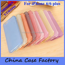 Hot Selling Soft TPU Flip Cover For iPhone 6 With Touching And Sleeping Function