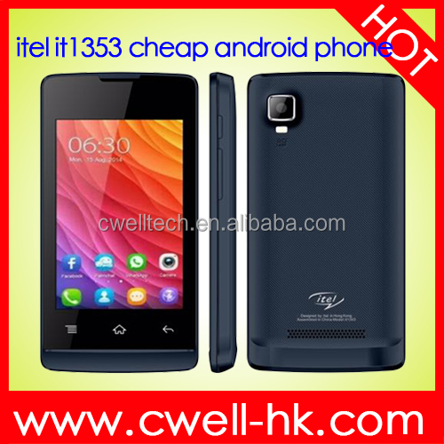 3.5 Inch Touch Screen Very Low Price Itel IT1353 Dual SIM Card Mobile Android Phone