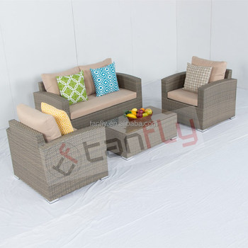 outdoor rattan garden furniture aluminum sofa