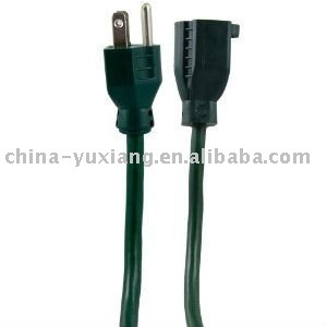 Extension cord with plug and connector