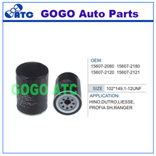 Oil Filter for Hino Dutro Liesse Profia SH Ranger OEM 15607-2080 15607-2180 15607-2120 15607-2121