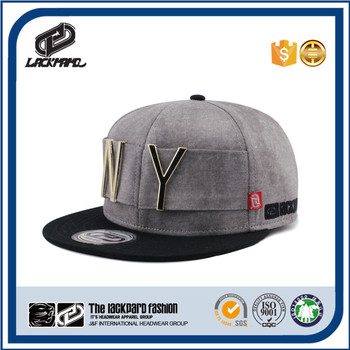 Metal NY fashion flat visor cap,popular snapback hats,caps and hats which deserve to have