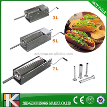 2-15L manual horizontal sausage meat extrude with 19mm/25mm/38mm/42mm stainless steel tubes