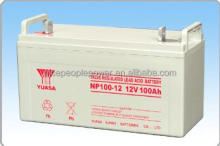 Yuasa model 12v100ah sealed lead acid battery for solar system