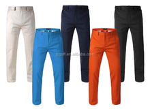 Custom logo solid color men's golf trousers