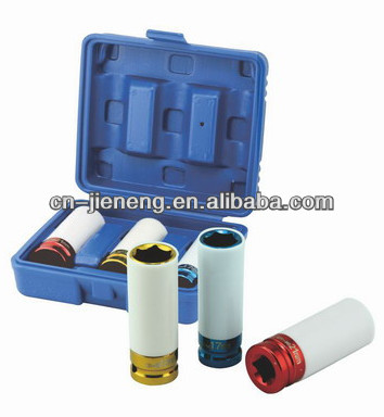 "1/2"" colorful air impact socket set for car repair hand tool"