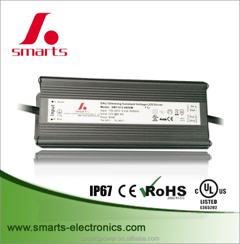 DALI dimming led driver 1200ma 80w for led display