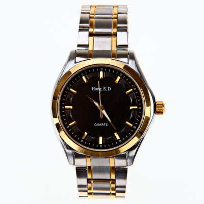 High quality Top fashion luxury brand gold stainless steel belt watch hour men Dress Quartz Watches