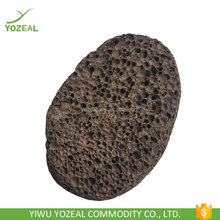 Black oval shape natural volcanic pumice stones wholesale