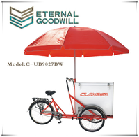 Single speed Ice Cream Tricycle prices adult