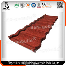 New Design Flat Roofing Shingle/ Excellent Quality Noise Resistent Stone Coated Metal Roofing Tile