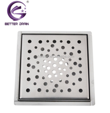 Square stainless steel floor drain for France