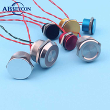 electrical pushbutton switch IP68 sealed metal piezo button