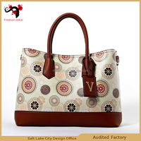Latest design women gender PU tote bag/handbag